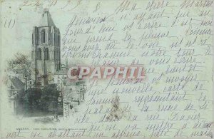Old Postcard Angers Tour St. Audin (map 1900)