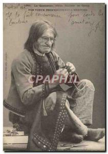 Old Postcard Brittany Folklore Quemener The Old Tailor Coray