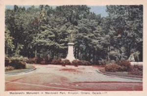 MacDonald's Monument in MacDonald Park - Kingston, Ontario, Canada