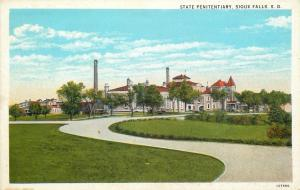 Sioux Falls South Dakota~State Penitentiary~Curvy Drive~Smoke Stack~1920s PC