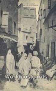 Une rue de la Casbah Alger Algeria, Africa, Unused