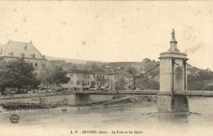 CPA Ain - Seyséel - Le Pont elt les Quais (89097)
