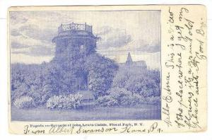 Scenic view showing Pagoda on Grounds of John Lewis Childs, Floral Park, New ...