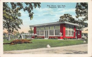 Rest Haven, City Park, Columbus, Wisconsin, Early Postcard, Unused