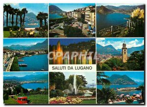 Postcard Modern Saluti da Lugano