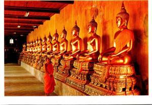 Thailand Bangkok Gallery Of Buddha Statues In Wat Pho