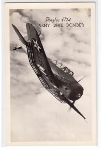 RPPC, Douglas A24 Army Dive Bomber