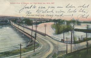 WABASH , Indiana, PU-1908:  Wabash River, High Water, Jan. 20th, 1907