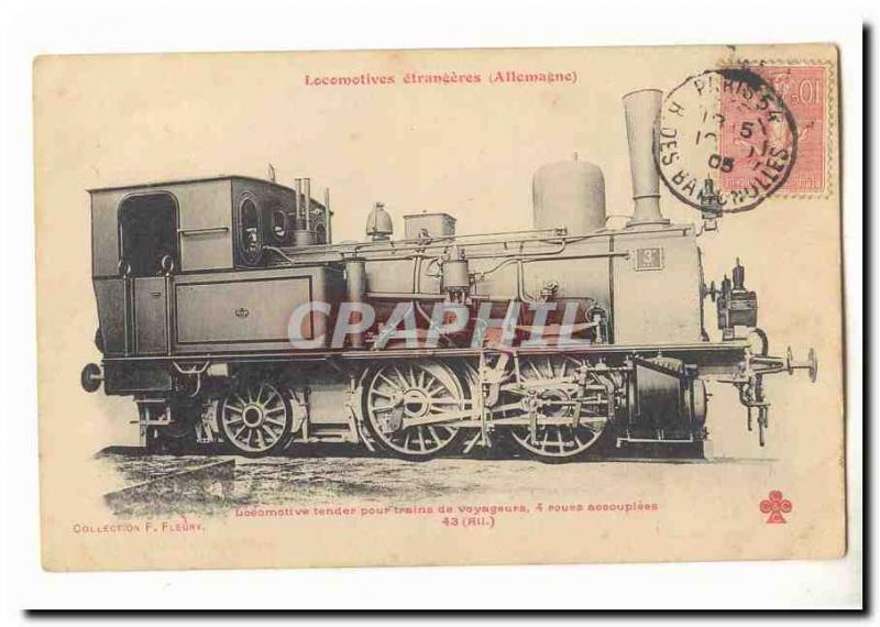 TEnder engine for passenger trains 4 wheels accouplees coll F Fleury TOP (train