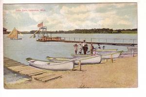 Dock, Lake Cora, Lawerence, Michigan, Rowboats, Sailboat, Miller and Jennings