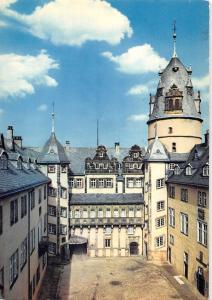 GG14075 Fuerstliches Residenzschloss Detmold Innenhof mit Steingang