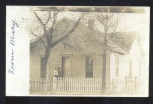 RPPC GREENVILLE OHIO RESIDENCE 1907 REAL PHOTO POSTCARD ROCKFORD HARRISON