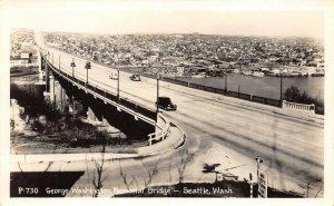 LPS33 Seattle Washington George Washington Memorial Bridge Postcard RPPC