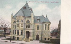 Massachusetts Lowell Memorial Hall and Public Library