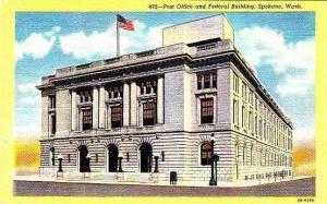 Washington Spokane Post Office & Federal Building Curteich
