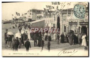 Old Postcard Trouville The Boardwalk Photography Chamberl