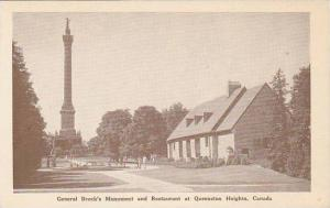 General Brock's Monument and Restaurant at Queenston Heights, Ontario, Canada...