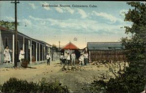 Caimanera Cuba Residential Section c1910 Postcard