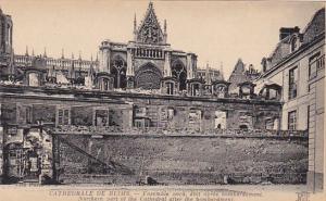 France Reims Cathedrale Ensemble nord etat apres bombardement