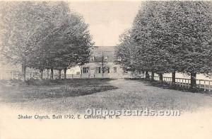 Old Vintage Shaker Post Card Church Built 1792 East Canterbury, New Hampshire...