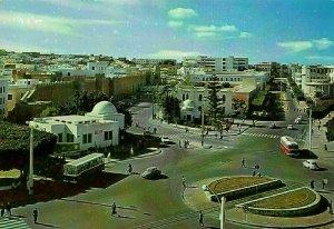 Tunisia Sousse Panoramic view Street Vintage Cars Postcard
