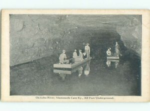 W-border RAFT BOATS ON ECHO RIVER UNDERGROUND Mammoth Cave Park City KY AE6380