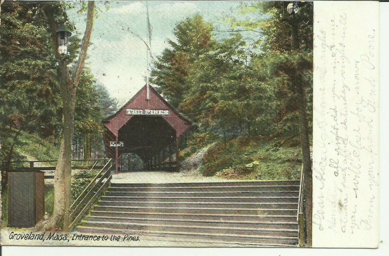 Groveland, Mass., Entrance to The Pines