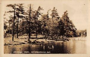 Peterborough Ontario Canada Inverlea Park Real Photo Antique Postcard K87036
