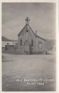 RP, BRITISH COLUMBIA, Canada, 1920-40s; Old Barkerville Church
