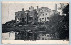 Postcard RI Middletown Historic Residence of Gray Craig 1907 View N10