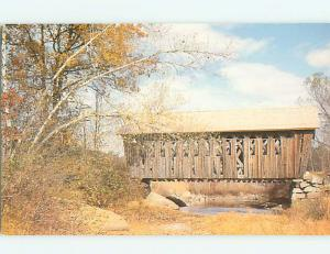 Unused Pre-1980 COVERED BRIDGE Andover New Hampshire NH t8278