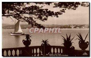 Old Postcard Juan les Pins taking view of Cap d'Antibes