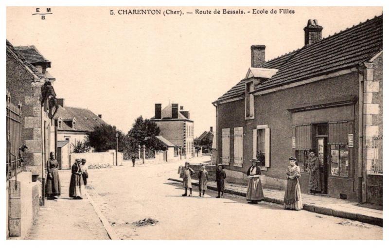 France Charenton , Route de Bessals , Ecole de Filles