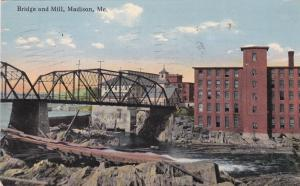 Bridge and Mill, MADISON, Maine, PU-1919