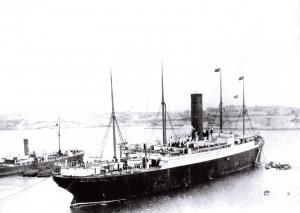 Large Size Repro Postcard, 1912 RMS Carpathia, at Halifax, Nova Scotia #209