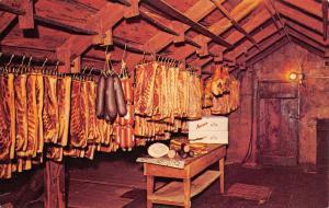 Amana Iowa Meat Shop Hanging Room Interior Vintage Postcard K17343