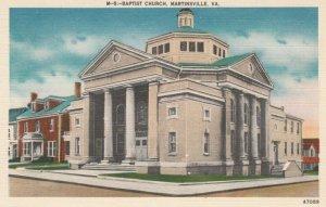 MARTINSVILLE , Virginia, 1930-40s; Baptist Church