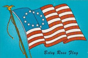 The Betsy Ross Flag Bicentennial Stick Em Card