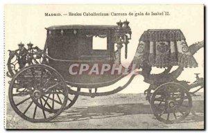 Espana Spain Espana Old Postcard Madrid Caballerizas Reales de Isabel II gala...