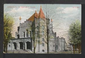 St Paul's M E Church,Toledo,OH Postcard