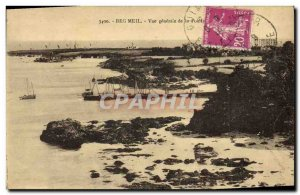 Old Postcard Beg Meil Vue Generale La Pointe Yacht