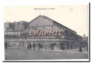 Niort Old Postcard Les Halles (reproduction)