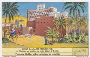 Liebig Vintage Trade Card S1307 Undiscovered Arabia 1935 No 6 Chateau de cont...
