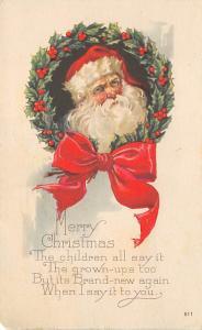 Santa Claus Post Card Old Vintage Antique Christmas Postcard 1923
