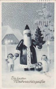 Wooden Santa Claus and children, Die besten MeihnachtsruBe, PU-1939