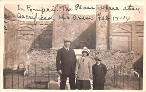 Italy Old Vintage Antique Post Card Pompei Sacrificed the Oxen, Real Photo Wr...
