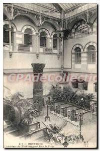 Old Postcard Le Mont Dore inside the establishment footbath