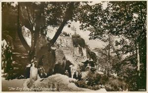 Real photo postcard Zig Zag Path Folkestone