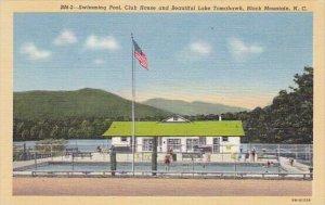 Swimming Pool Club House And Beautiful Lake Tomahawk Black Mountain North Car...