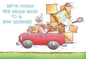 We've Moved the Whole Mess to a New Address - Humor